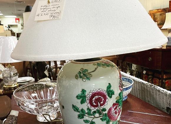 Antique Asian ginger jar lamp