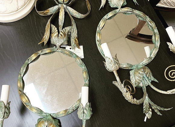 Electric mirrored sconces