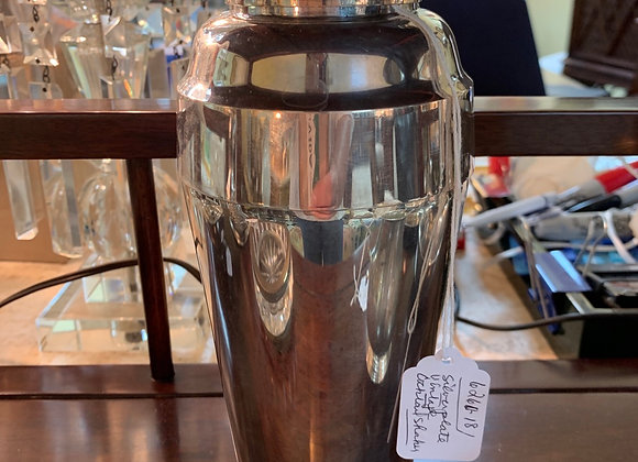 Silver plate vintage cocktail shaker