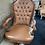 Thumbnail: Leather desk chair, wheels