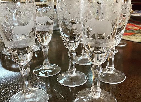 Champagne flutes (6)