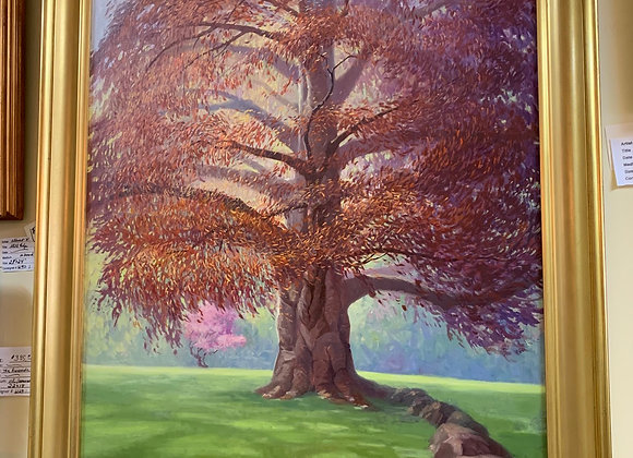 Original oil painting. Large. Tree by LAVÉE