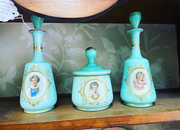 Antique Victorian vanity set