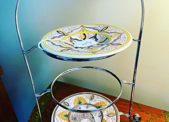 Chrome Stand for cookies, petit-fours or candy.