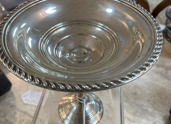 Sterling bowl on stand