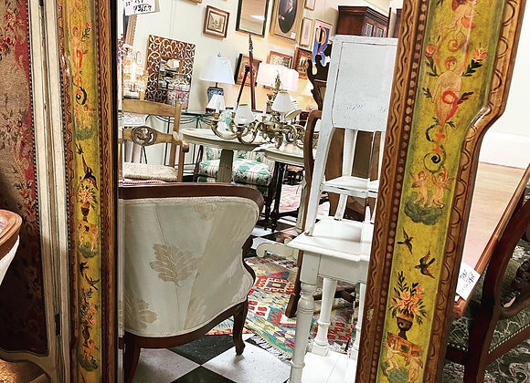 5 feet tall mirror, painted frame. Great decor.
