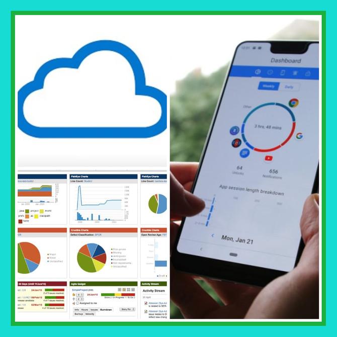 Dashboard, Cloud, App. Bem vindo à Tecnologia.
