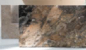 Snug candle holder, belgian marble