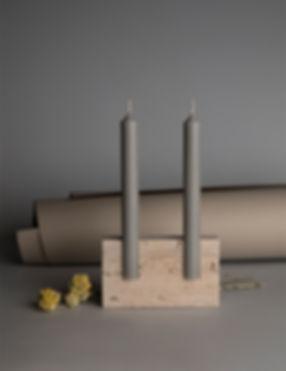 snug candle holder roman travertine
