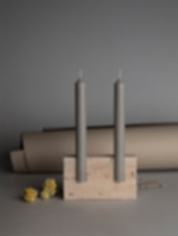 snug candle holder roman travertine