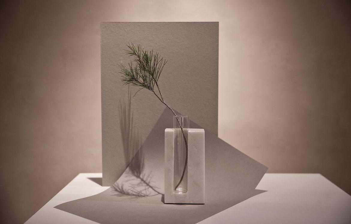 vase styling stone marble minimal