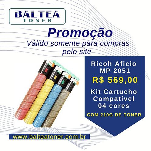 Promoção de Cartucho Compatível de Toner Ricoh Aficio MP C2051 BCMY