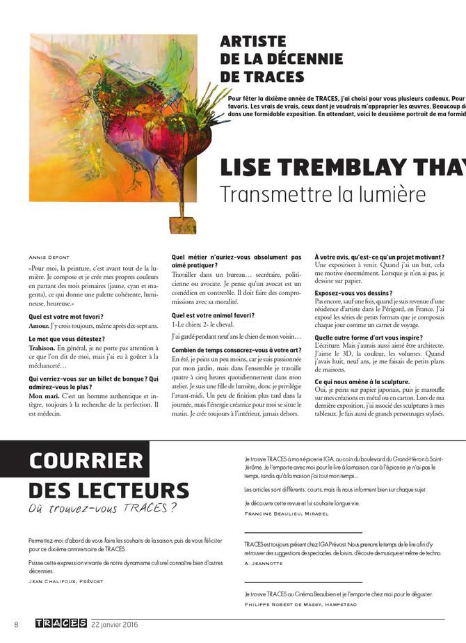 Reportage dans Traces Magazine page 8-9