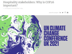 Hospitality stakeholders: Why is COP26 important?