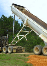 Delivering the big loads of fill dirt or limestone