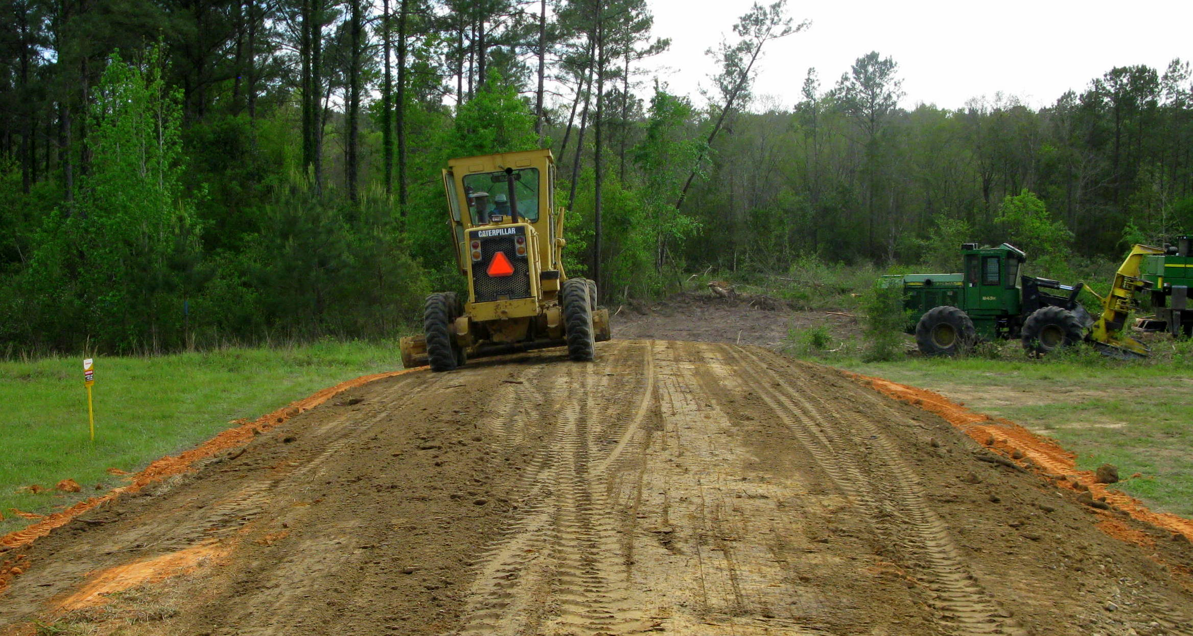 Grading roads and driveways