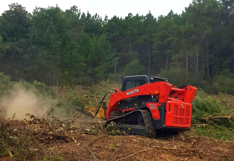Mulching and clearing stumps