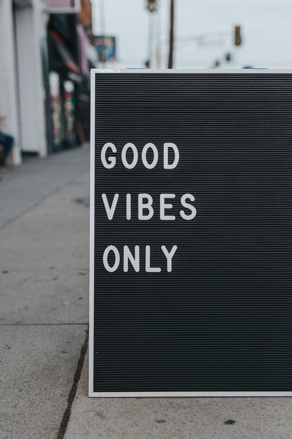 good vibes only.
