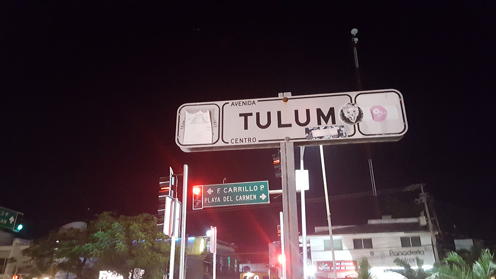 Tulum street sign