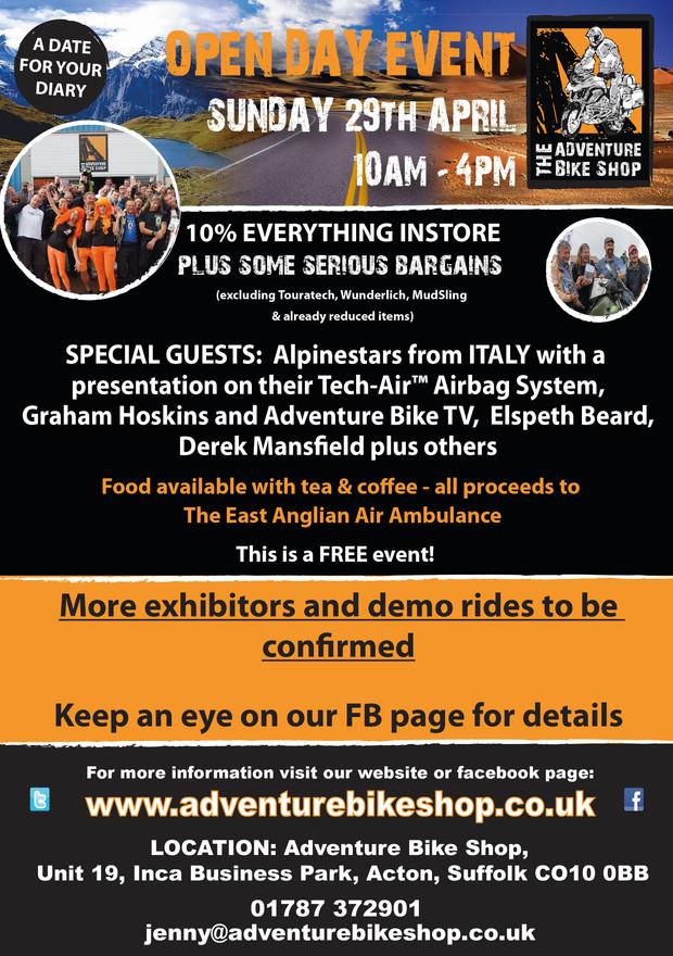 The Adventure Bike Shop                    Open Day Event