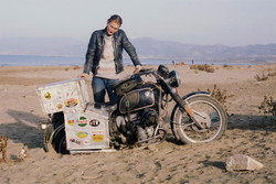 68. Bike stuck in sand - south coast Turkey