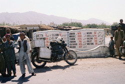 62.  Pakistan Quetta road sign