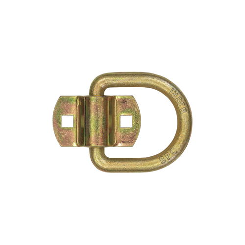 "1/2"" FORGED D-RING YELLOW ZINC BOLT-ON (2PCS) CAPACITY: 4,080LBS"