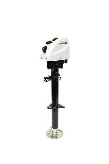 3.5K TOW-RITE ELECTRIC JACK WHITE W/ CRANK HANDLE