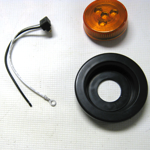 "LIGHT KIT LED 2.5"" AMBER W/ GROMMET & PLUG"