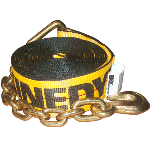 """3"""" STRAP WITH CHAIN ANCHOR 30' CAPACITY: 5,400 LBS"""
