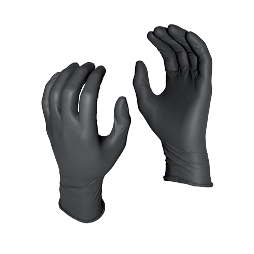 GREASE MONKEY 5 MIL BLACK NITRILE GLOVES (100) MEDIUM