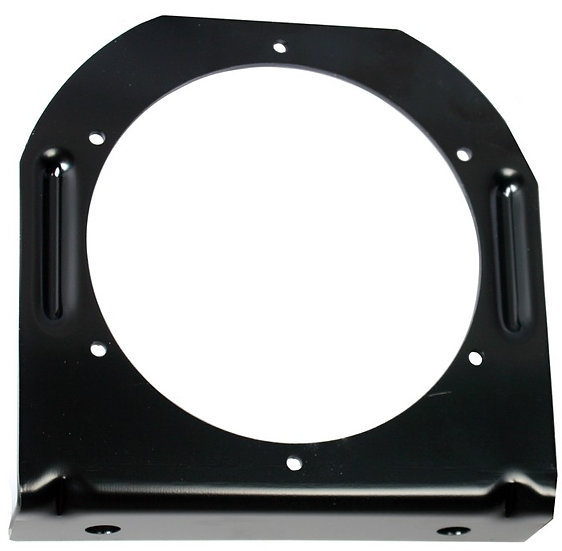 "4"" ROUND BLACK STEEL MOUNTING BRACKET"
