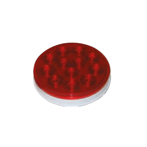 "LED 4"" ROUND SEALED LAMP RED"