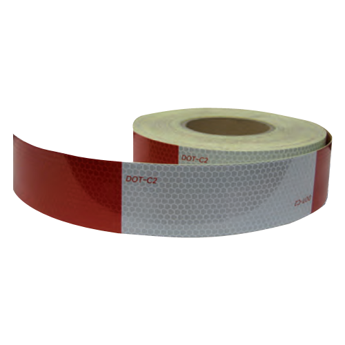REFLECTIVE TAPE 150' RED/SILVER