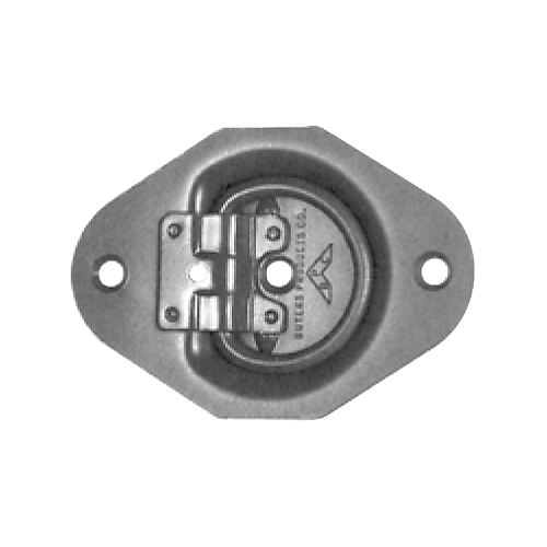 """RECESSED ROPE RING ZINC 3.5""""X5""""X3/8"""" CAPACITY: 285 LBS BREAKING POINT: 850 LBS"""