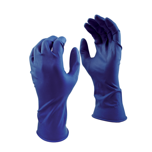 GREASE MONKEY 15 MIL BLUE LATEX GLOVES (50) LARGE