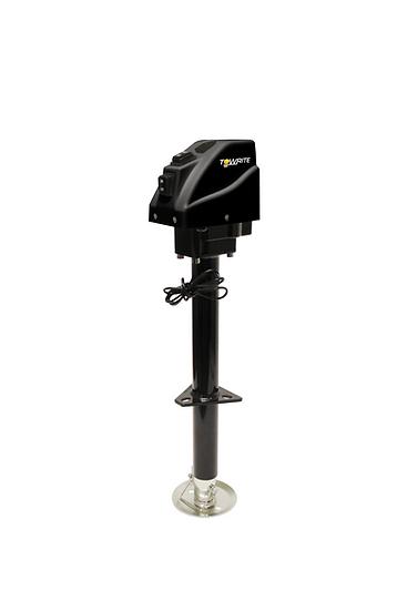 3.5K TOW-RITE ELECTRIC JACK BLACK W/ CRANK HANDLE