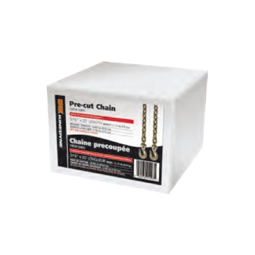"CHAIN GR70 5/16""X20' W/ HOOKS BOXED CAPACITY: 4,700 LBS"