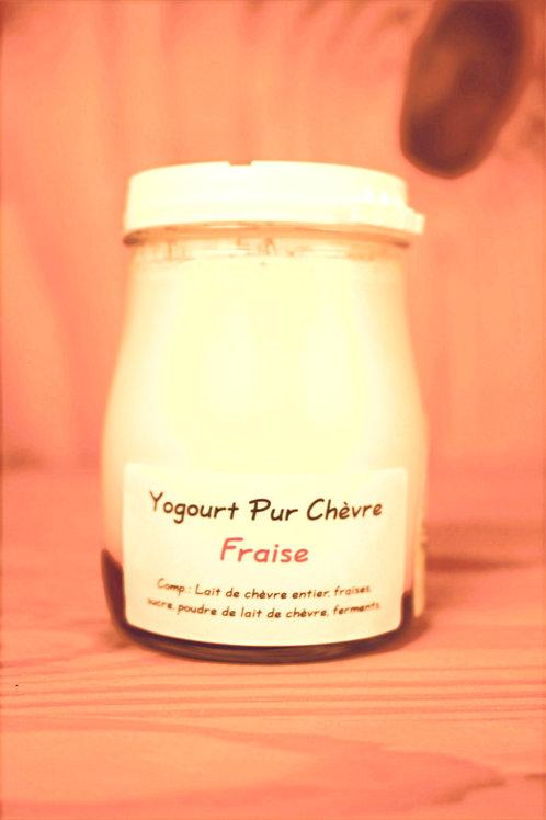Yogourt pur chèvre Fraise