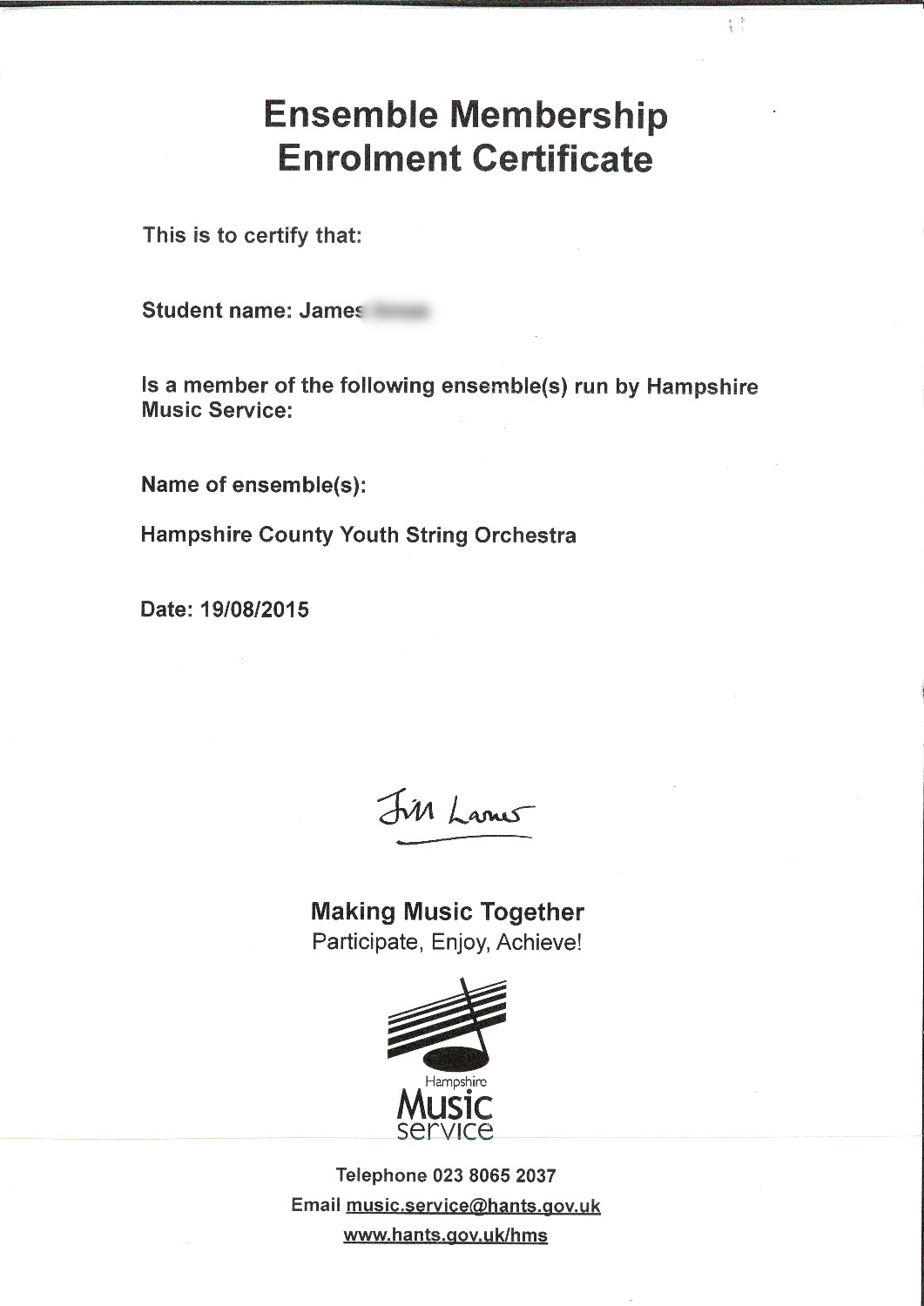 Hampshire Orchestra Certificate_edited