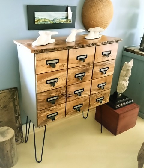 12-Drawer Apothecary Style Cabinet