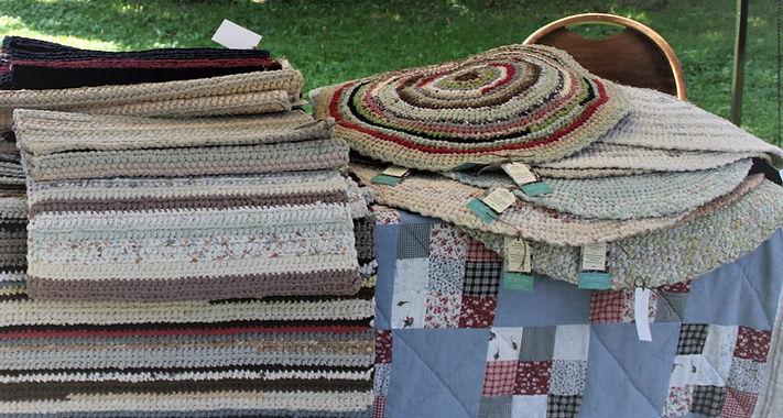 crocheted rag rugs