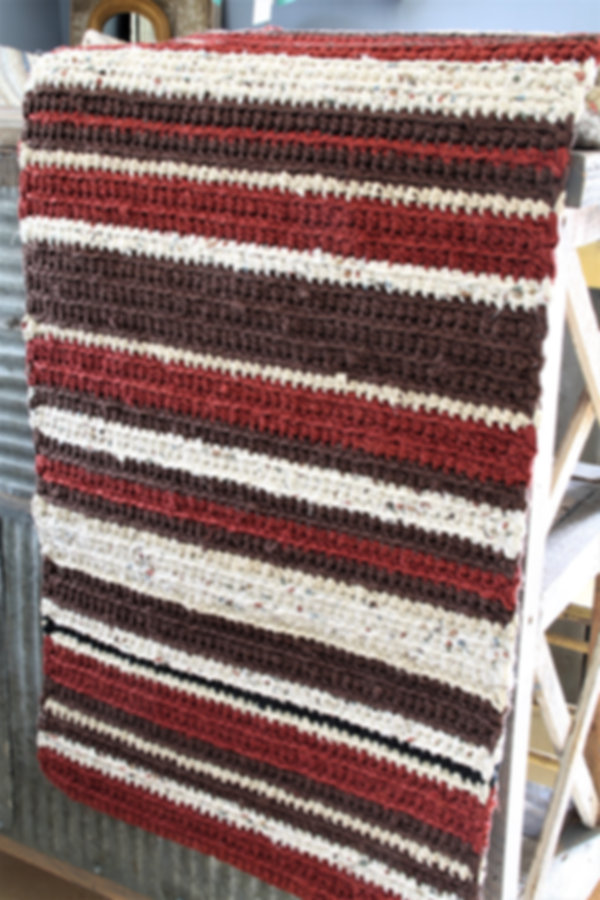 brown rag rug runner