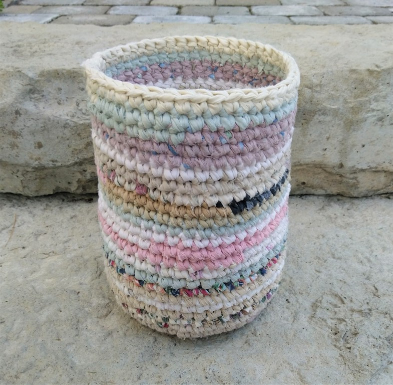 Hand Crocheted Cloth Basket