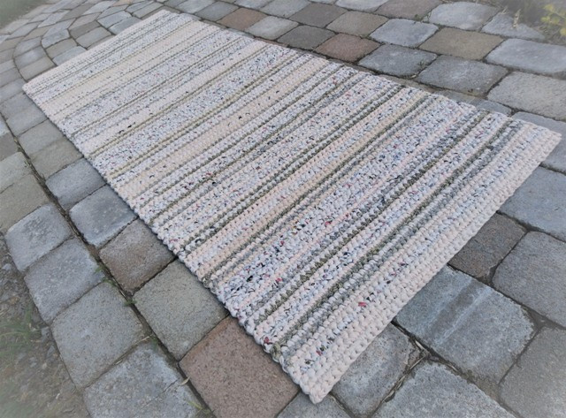 SOLD--Crocheted Rag Rug Runner--SOLD