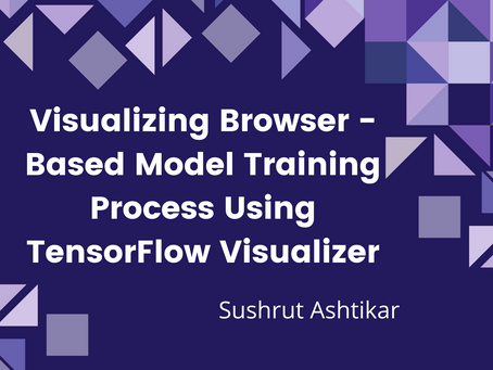 Visualizing browser-based model training process using TensorFlow visualizer