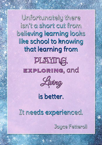No shortcut to getting unschooling