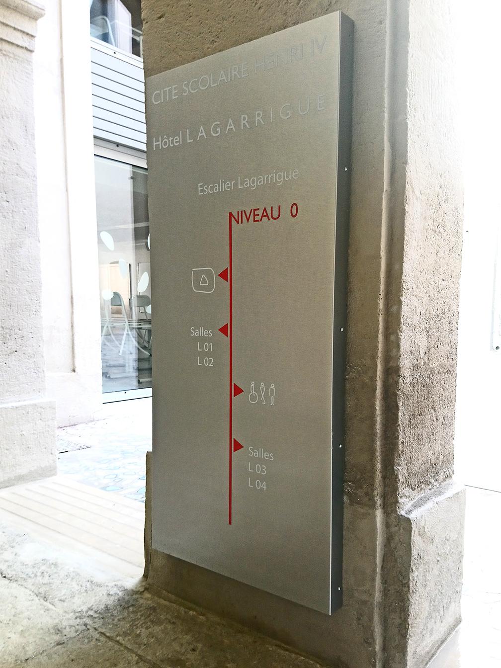 Signalétique Lycée Henri IV