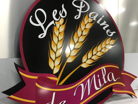 Enseigne grand format : Les pains de Mila > Cegecom