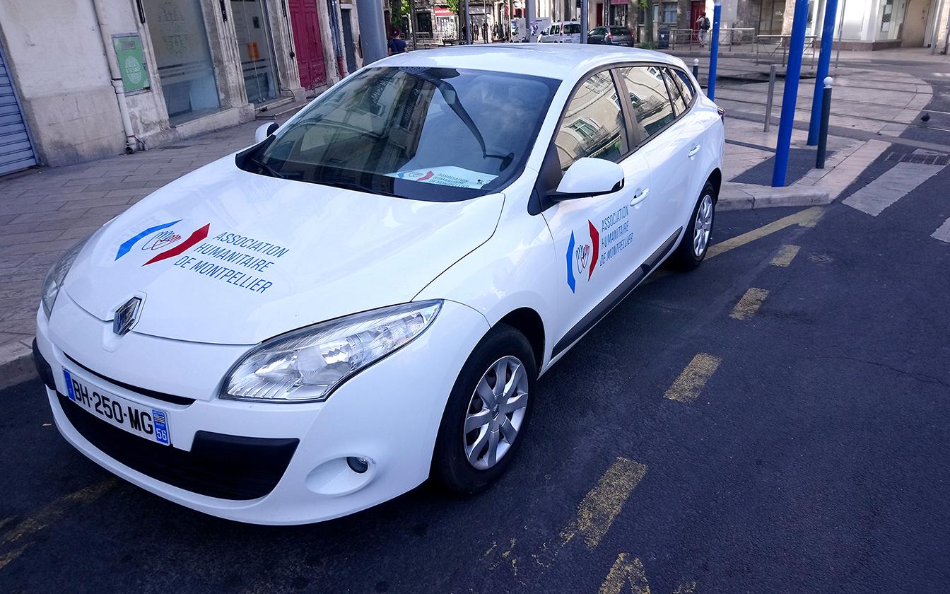 Marquage pour l'association humanitaire de Montpellier